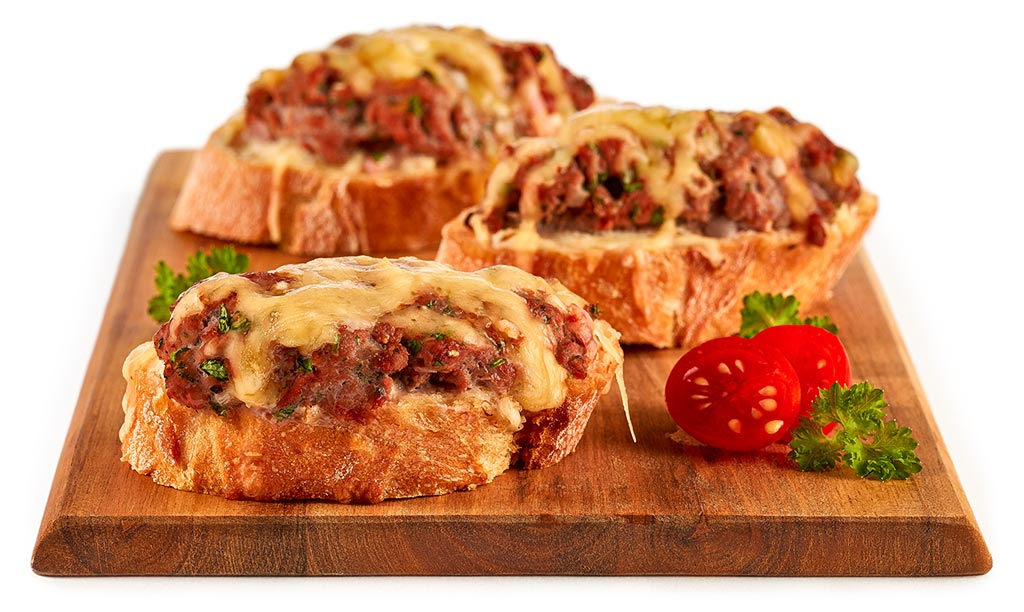 Party minced meat baguette