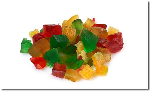 Fruit mix, candied