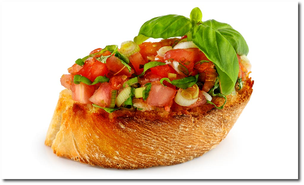 Bruschetta mit tomate antipasti rezept for Italienisches kochbuch