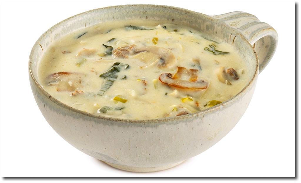 käsesuppe mit lauch und schmelzkäse
