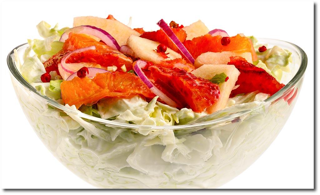 eisberg salat mit blut orangen rezept. Black Bedroom Furniture Sets. Home Design Ideas