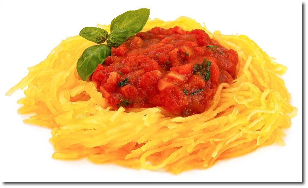Spaghetti Kurbis Mit Tomaten Sauce Rezept