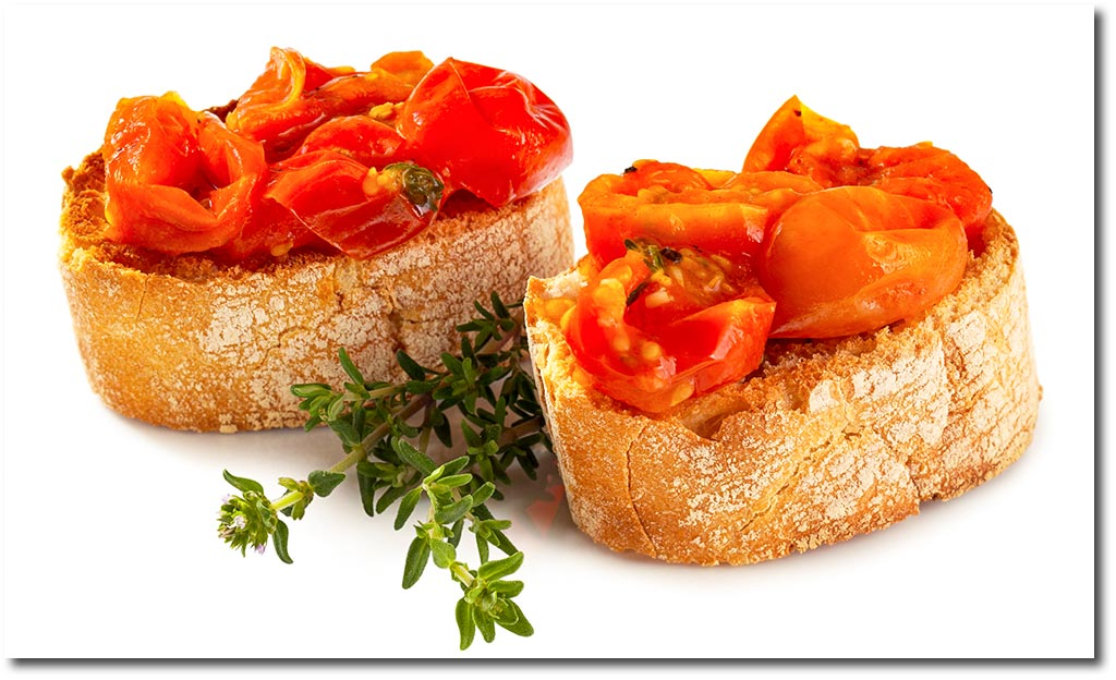 bruschetta mit tomaten sugo rezept. Black Bedroom Furniture Sets. Home Design Ideas