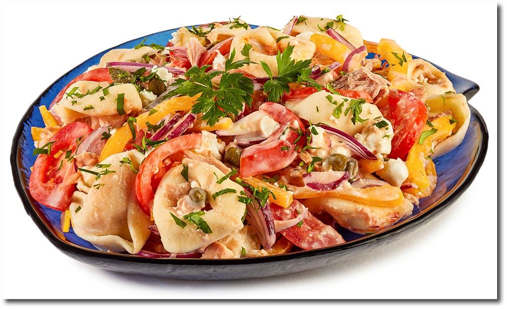 tortellini salat mit thunfisch rezept. Black Bedroom Furniture Sets. Home Design Ideas