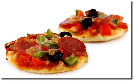 mini pizza salami rezept. Black Bedroom Furniture Sets. Home Design Ideas