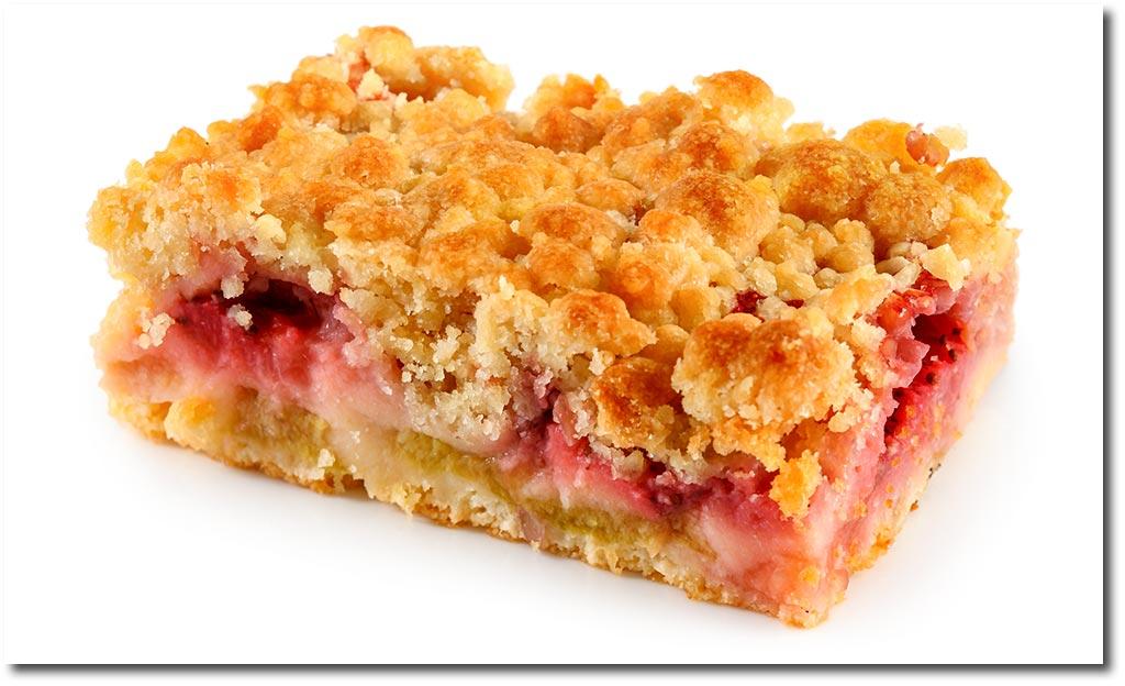 Erdbeer Rhabarber Streusel Kuchen Rezept