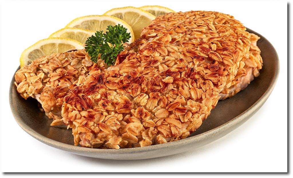Schnitzel In Hafer Flocken Kruste Rezept