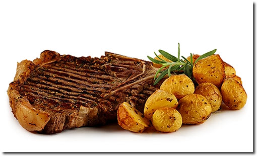 t bone steak mit rosmarin kartoffeln rezept. Black Bedroom Furniture Sets. Home Design Ideas
