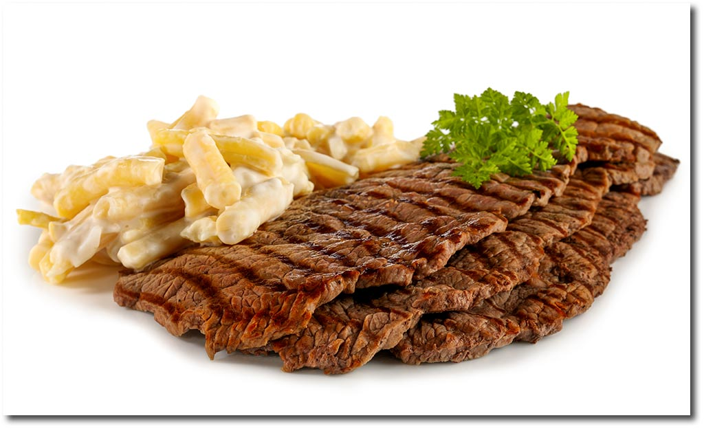 minuten steaks mit wachs bohnen salat rezept. Black Bedroom Furniture Sets. Home Design Ideas
