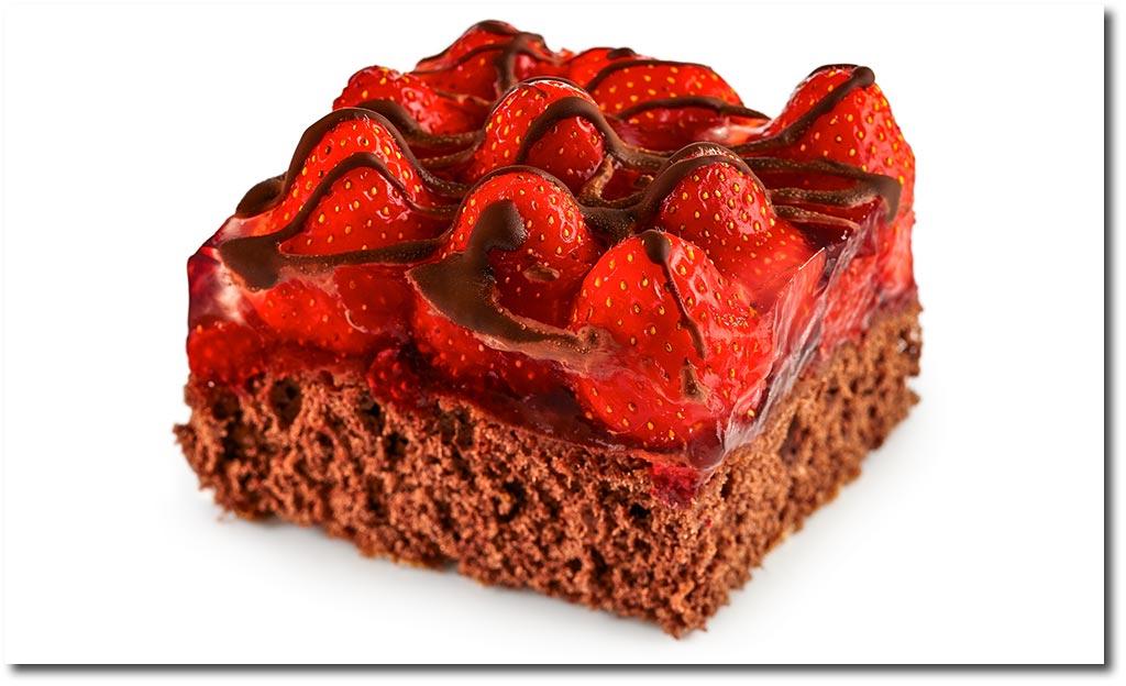 Rezept kuchen schokolade erdbeeren