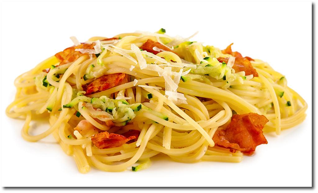 zucchini spaghetti carbonara rezept. Black Bedroom Furniture Sets. Home Design Ideas