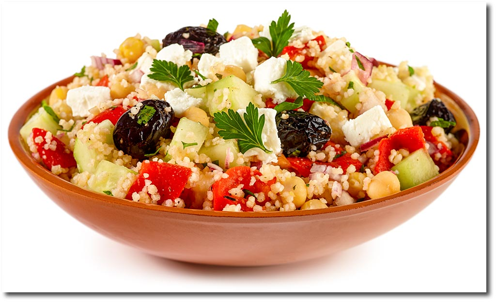 griechischer couscous salat mit feta rezept. Black Bedroom Furniture Sets. Home Design Ideas