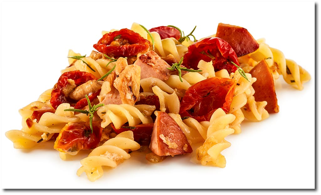 rezepte f r pasta mit fleisch nudeln mit fleisch wurst. Black Bedroom Furniture Sets. Home Design Ideas