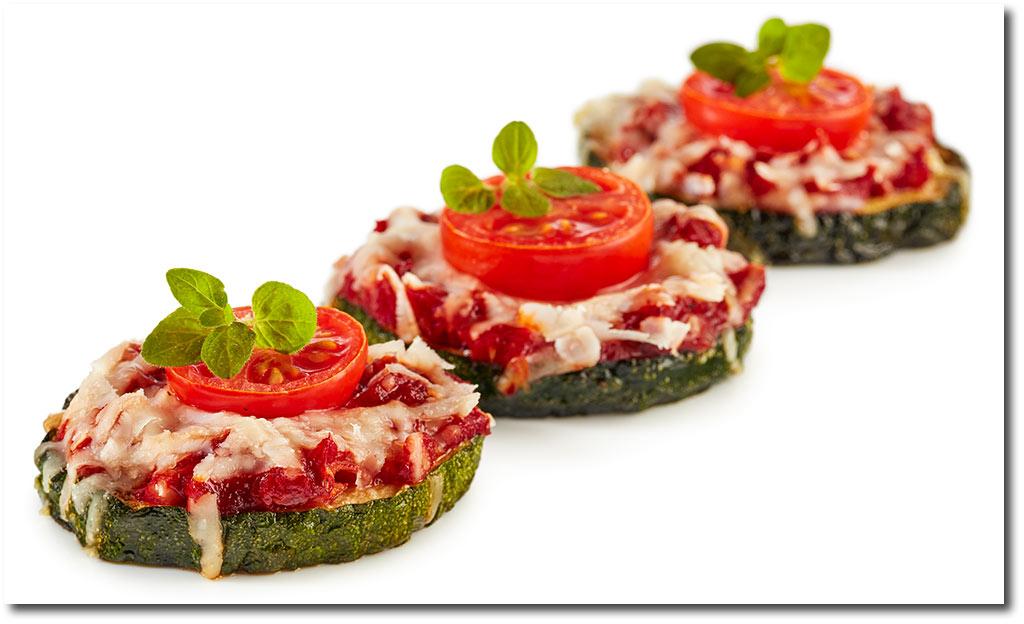 zucchini pizza fingerfood rezept