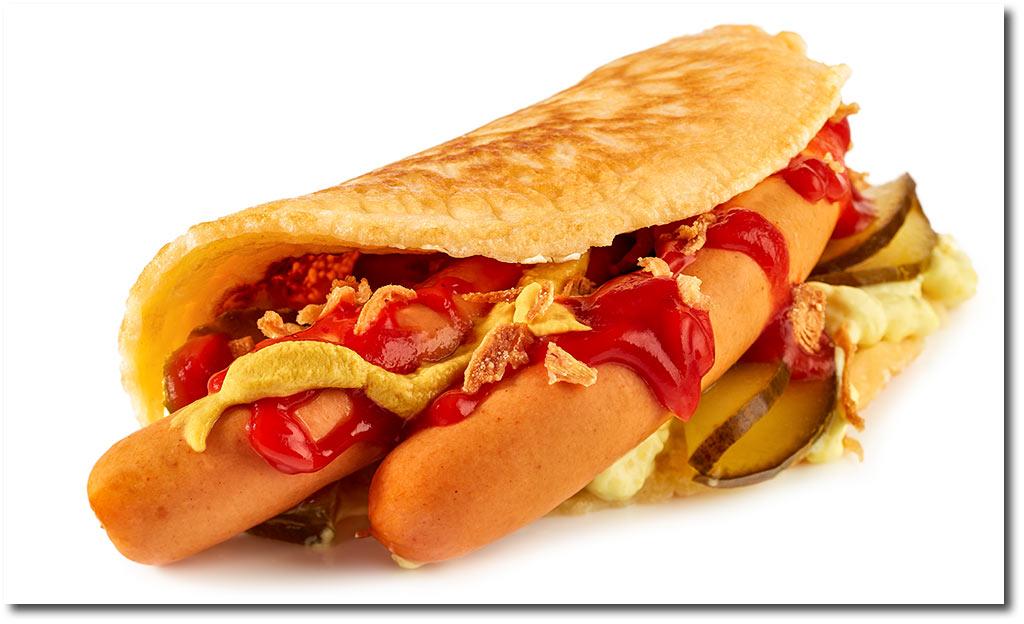 pfannkuchen hot dog rezept. Black Bedroom Furniture Sets. Home Design Ideas