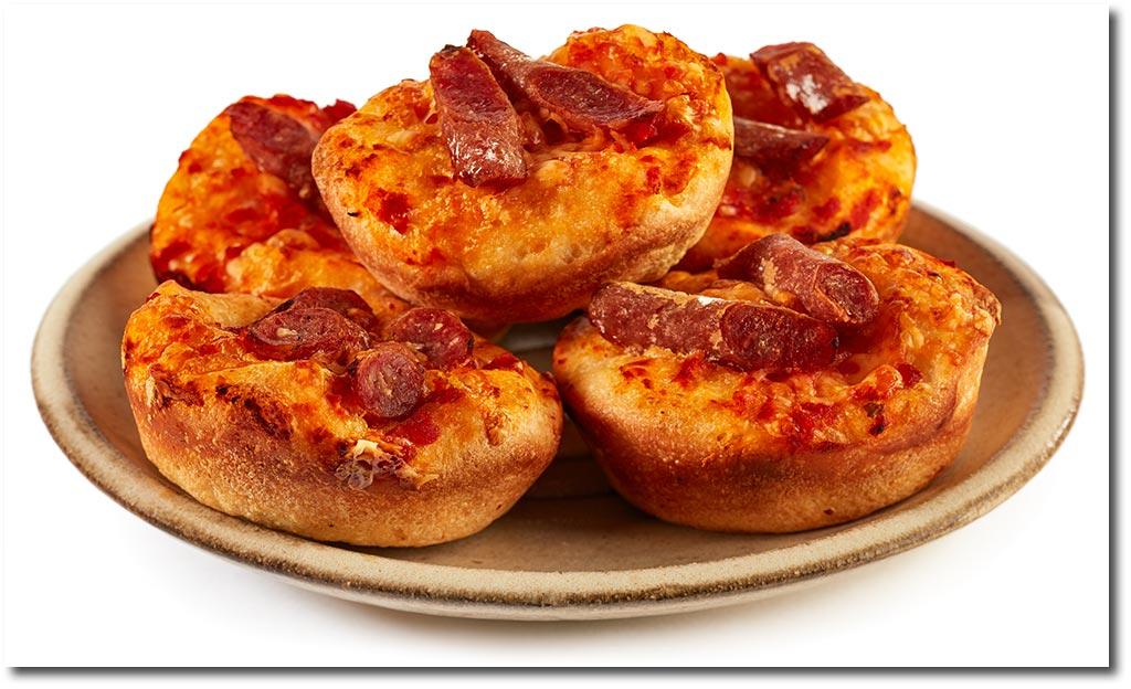 Schnelle Pizza Brötchen Rezept